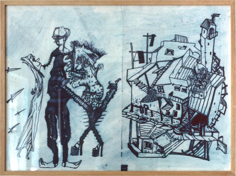 Gareth Sansom Frazzle, 1982; mixed media on paper; 56.5 x 77 cm; enquire