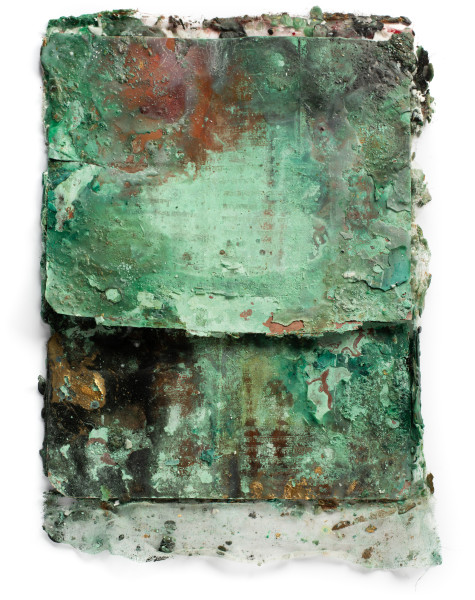 Kirtika Kain Roma, 2019; natural pigment, oxidation, wax, etched copper; 66 x 48 cm; enquire