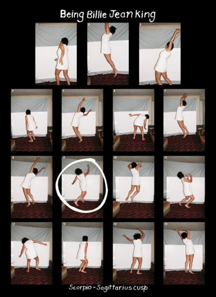 Tracey Moffatt Being Billie Jean King, 2005; colour print on Fujiflex paper; 58 x 43 cm; Edition of 10; Enquire
