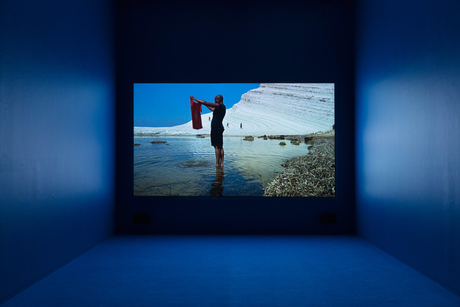 Isaac Julien Western Union: Small Boats (The Leopard), 2007; Single screen projection, Super 16mm film transferred to HD, colour, stereo sound; Duration: 20'00''; Edition of 10 + AP 2; enquire