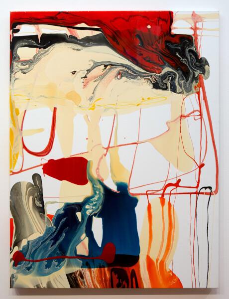 Dale Frank Swine Flu, 2013; varnish on canvas; 160 x 120 cm; (unframed); enquire
