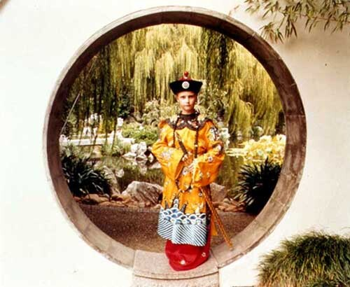 Anne Zahalka Chinese Gardens (boy in costume), 1998; type C photograph; 76 x 93 cm; Edition of 12; enquire