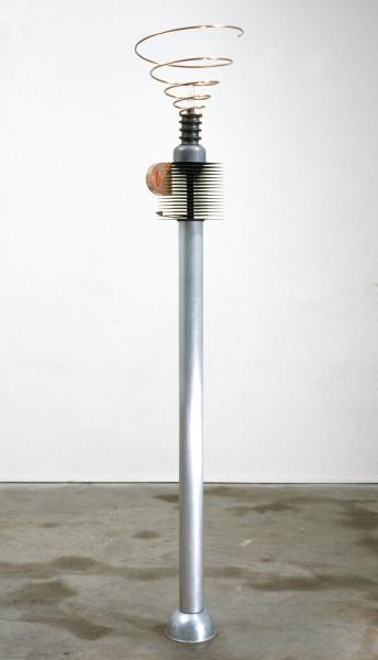 Robert Owen Starmaker, 1985; aluminium, steel, lead, copper, rubber & glass; 196 x 32 x 32 cm; enquire