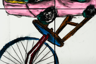 Pierre Mukeba KINGA (detail), 2021; charcoal and pastel on archival paper; 120 x 168 cm; enquire