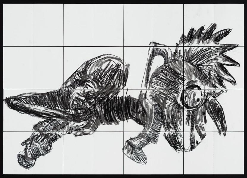 Pierre Mukeba Falsidical Paradox (P1), 2021; charcoal on archival paper; 120 x 168 cm; enquire