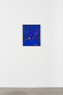 installation view; Tom Polo peaceful protest (part four), 2021; acrylic and Flashe on canvas; 60 x 50 cm; enquire