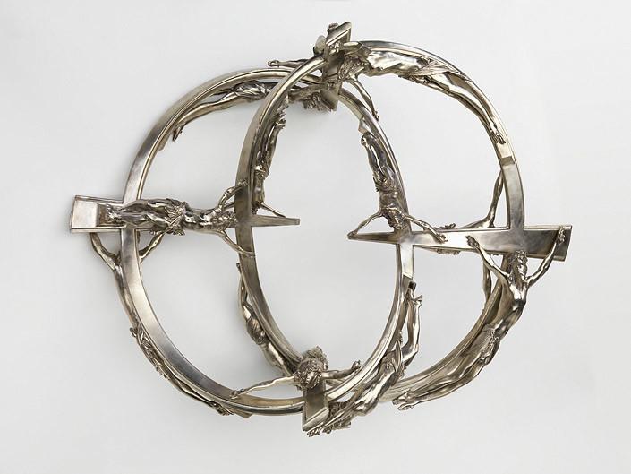 Wim Delvoye Double Helix CCI 180 00, 2007; Berlin silver; 48 x 113 x 85 cm; enquire