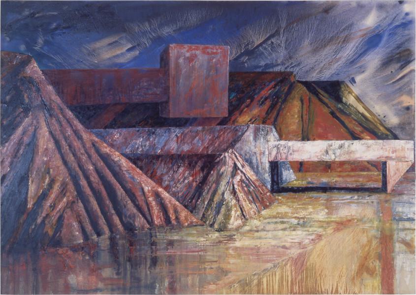 Mandy Martin Landscape Prothesis, 1986; oil on canvas; 170 x 240 cm; enquire