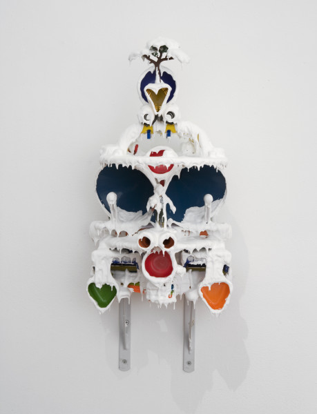 Teppei Kaneuji White Discharge (Built-up Objects #25), , 2013; found objects, resin, glue; 52 x 24 x 20 cm; enquire