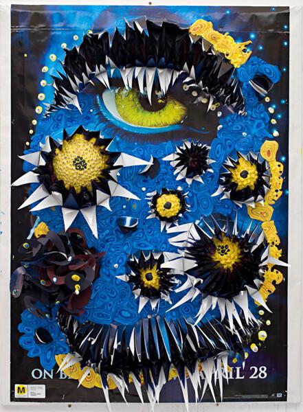 Rohan Wealleans Blue Jungle Fever, 2010; house paint, paper, polystyrene; 104 x 79 x 25 cm; enquire