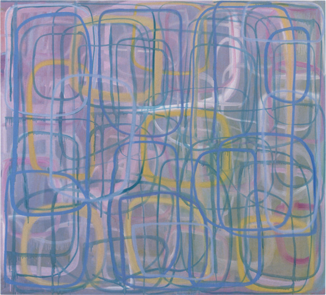 Angela Brennan Arriving at the Circles, 1997; oil on canvas; 167.5 x 183 cm; enquire