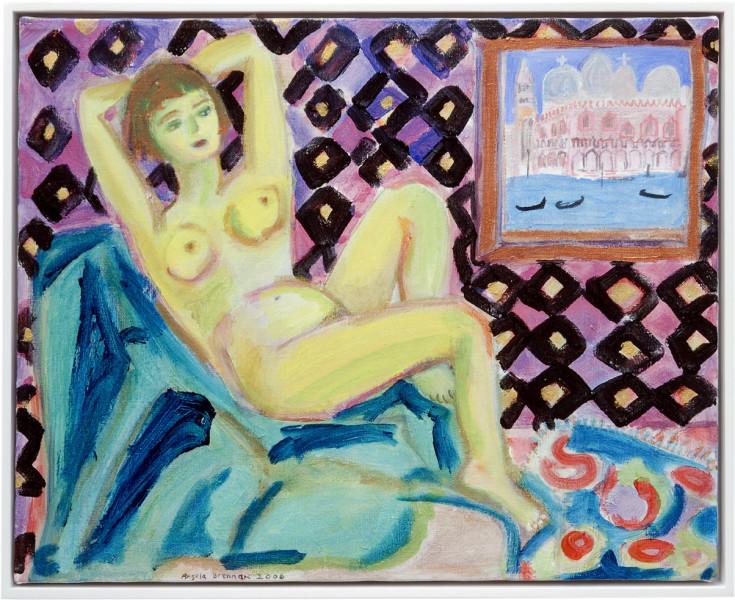 Angela Brennan Yellow Nude, 2006; acrylic on linen; 40.5 x 50.5cm (unframed), 43 x 53cm (framed); enquire