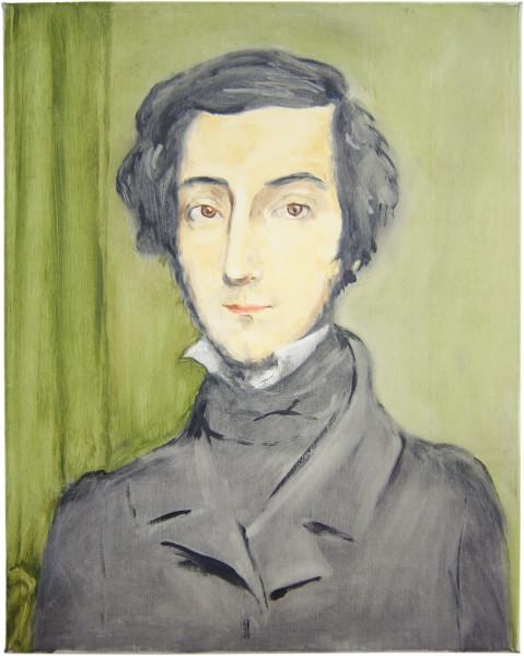 Linda Marrinon Portrait of Alexis de Tocqueville after Ch�sseriau, 2002; oil on canvas; 44 x 35 cm; enquire