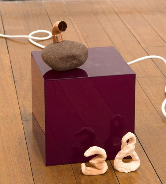 Mikala Dwyer 38, 2009; acrylic, rock, copper; 31 x 18 x 18 cm; enquire