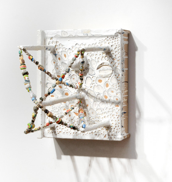 Rohan Wealleans Space Map, 2006; from the series Exhibited in 'Stolen Ritual', 2006; wooden drawer, paint and polystyrene; 46 x 38 x 46 cm; enquire