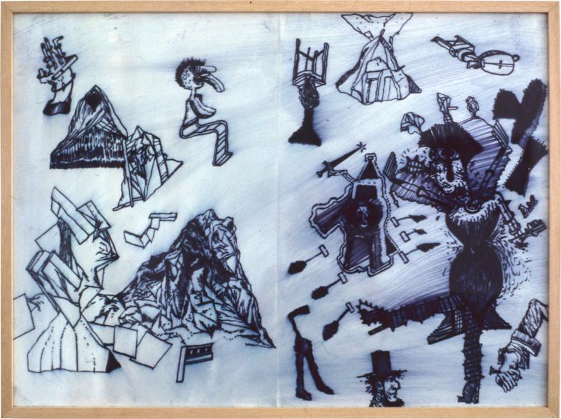 Gareth Sansom Bungo, 1982; mixed media on paper; 56.5 x 77 cm; enquire