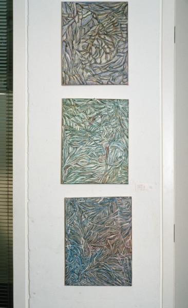 Marion Borgelt Fragment III, Fragment IV, Fragment VI, 1988; oil on canvas; each work 45.7 x 35.5 cm; enquire