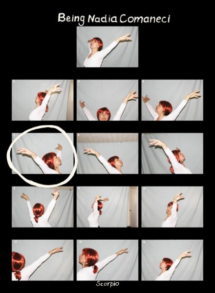 Tracey Moffatt Being Nadia Comaneci, 2005; colour print on Fujiflex paper; 58 x 43 cm; Edition of 10; Enquire