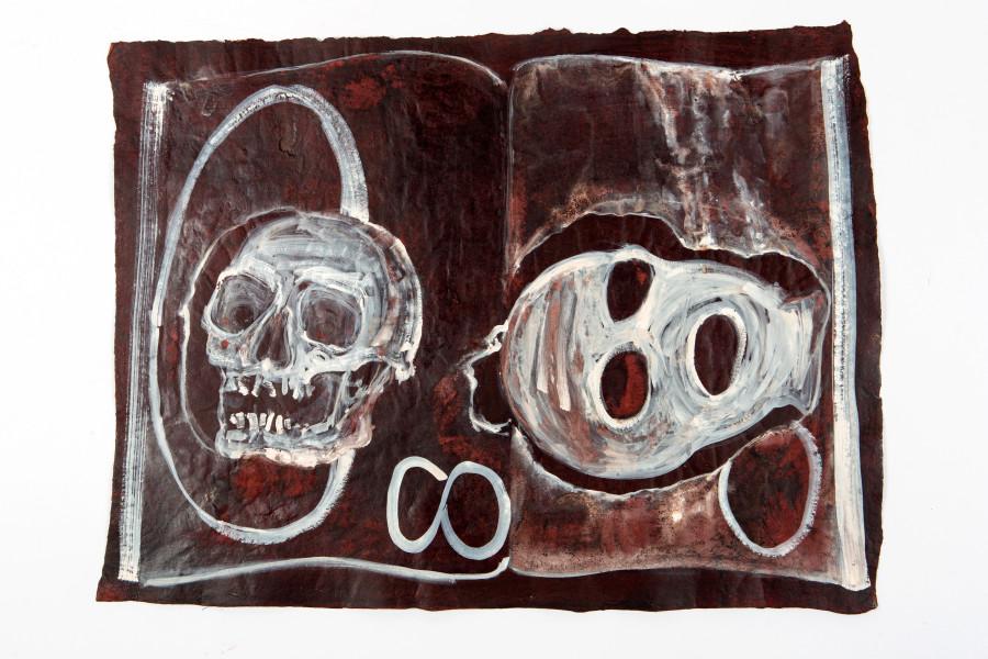 Fiona Hall By The Book, 2015; Cat no. 35; khadi paper; 57 x 76 cm; enquire