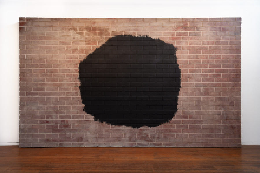 Callum Morton Monument #22: Black Hole Relocation, 2009; polyurethane, epoxy resin, fiberglass, sand cement, acrylic paint; 240 x 409 x 11 cm; enquire