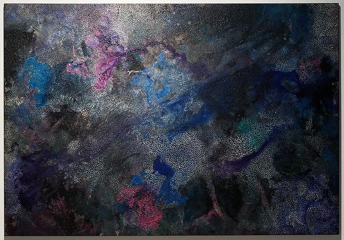 Daniel Boyd Untitled (U3), 2013; acrylic, oil and archival gel on linen; 168 x 245 cm; enquire