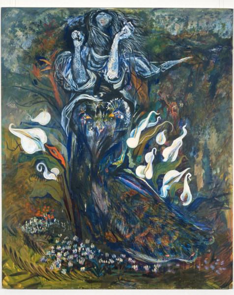 Victor Rubin Hear the darkened gorge of last light, 1989; oil on primed linen; 199 x 167.5 cm; enquire