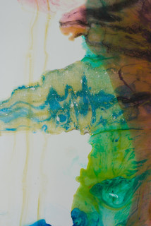 Dale Frank Brisbane Luxury Boat Expo (detail), 2020; powder pigments in resin, epoxyglass, on Perspex; 150 x 100 cm; enquire