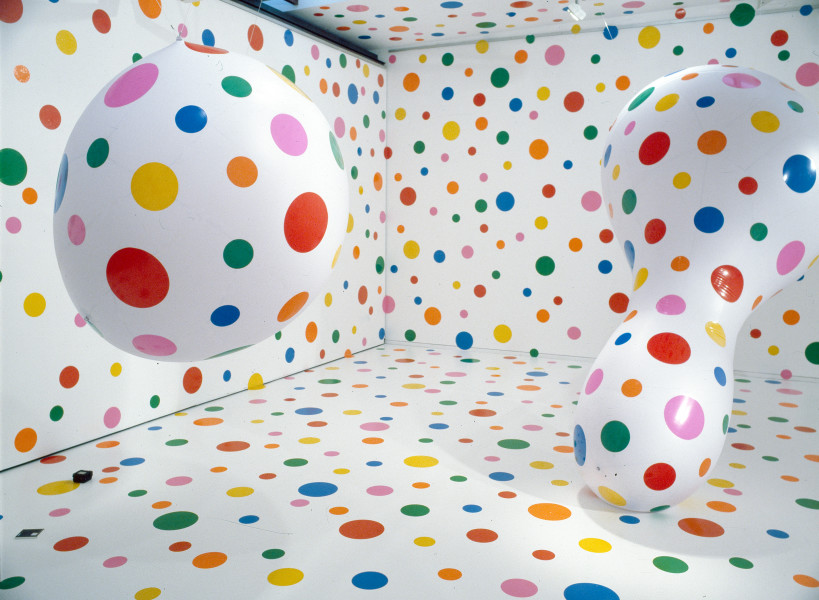 Yayoi Kusama Dots Obsession - New Century, 2000; balloons, vinyl dots; 11 pieces; dimensions variable; enquire