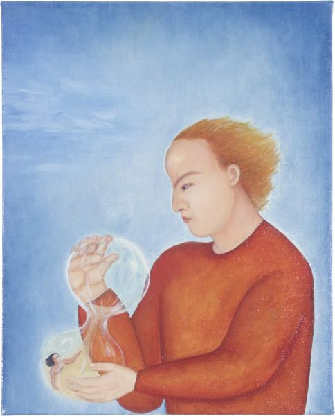 Vivienne Shark LeWitt Hour Glass, 1987; oil on linen; 50.5 x 40.5 cm; enquire