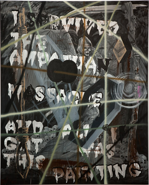 David Griggs I servived the Ampatuan massacre and all I got was this painting, 2010; acrylic on canvas ; 284 x 228.5 cm; enquire