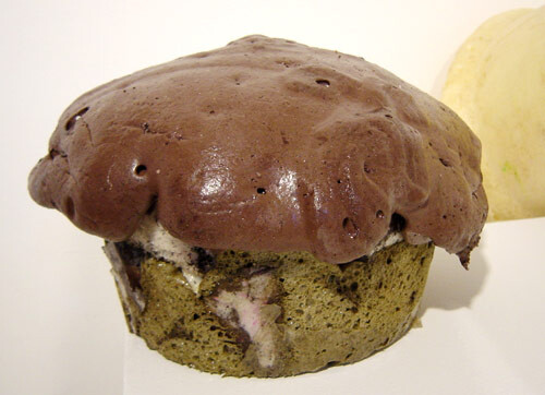 Hany Armanious Muffin # 5, 2003; expanding foam, pigment & paper; 30 x 33 x 33 cm; enquire
