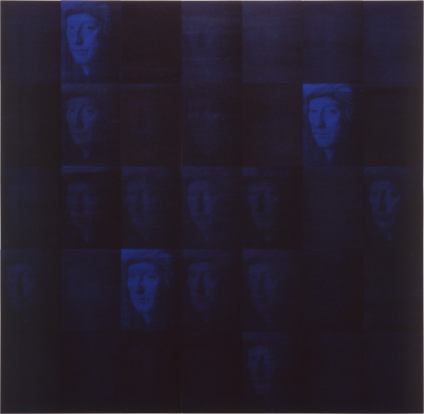 Lindy Lee Soundless Fate, 1992; photocopy and acrylic on stonehenge paper; 168 x 173 cm; enquire