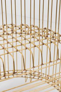 Marley Dawson Chair (for levitation) (detail), 2020; brass, silver solder; 84 x 65 x 52 cm; enquire