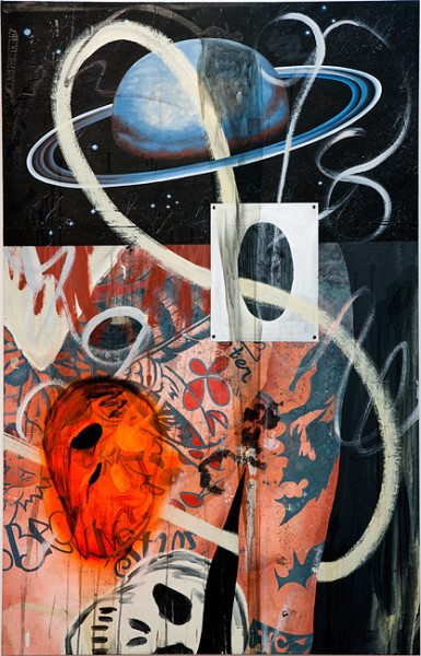 David Griggs I servived the Ampatuan massacre and all I got was this painting #3, 2010; acrylic on canvas ; 213 x 137 cm; enquire