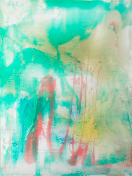 Dale Frank Love, 2020; powder pigments in resin, epoxyglass, on Perspex; 160 x 120 cm; Enquire