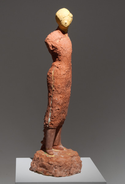 Linda Marrinon Woman with Jade Brooch, 2009; tinted plaster, muslin; 77 x 25 x 27 cm; enquire