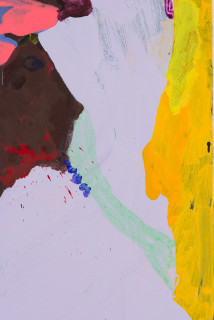 Tom Polo floral footsteps (detail), 2020; acrylic and Flashe on canvas; 182 x 138 cm; enquire