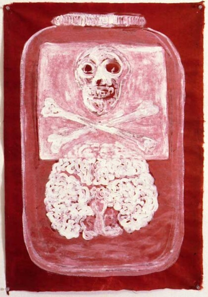 Fiona Hall Half Life, 1997; gouache on Daphne paper; 80 x 56 cm; enquire