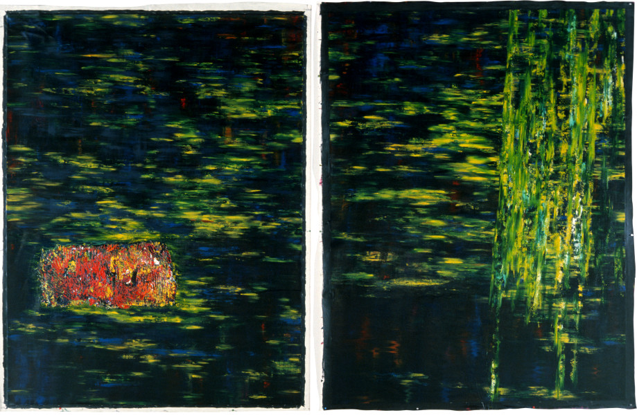 Dale Frank The Deep Studio and the Flood from Memory, 1985; acrylic on canvas; 240 x 360 cm; enquire