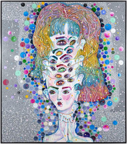 Del Kathryn Barton see ya mumma, 2016; acrylic on french linen; 162 x 142 cm; (framed); enquire