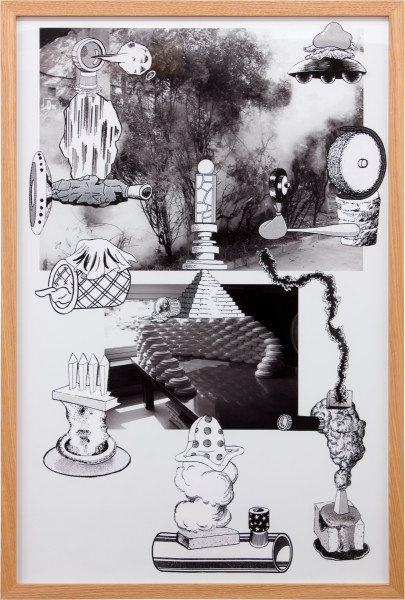 Teppei Kaneuji Games, Dance and the Constructions #8, 2011; collage on photograph; 92 x 62 cm; enquire