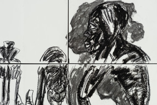 Pierre Mukeba (SAMAKI) (detail), 2021; charcoal and pastel on archival paper; 120 x 168 cm; enquire