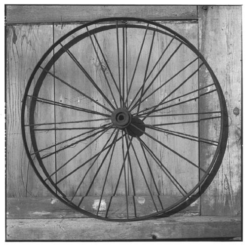 Bill Culbert Iron bike wheel, 2002; Edition of 25; enquire