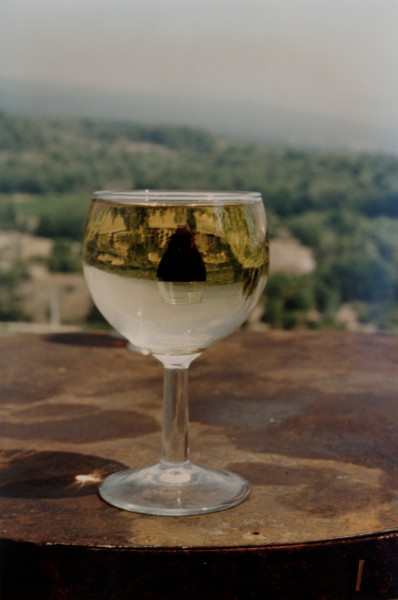 Bill Culbert Verre a vin, vin a verre, 1993; colour photograph; 31 x 27 cm; Edition of 20; enquire