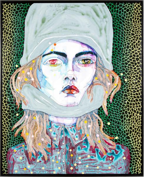 Del Kathryn Barton Shiny girl, 2014; acrylic on french linen; 83.5 x 68 cm; enquire