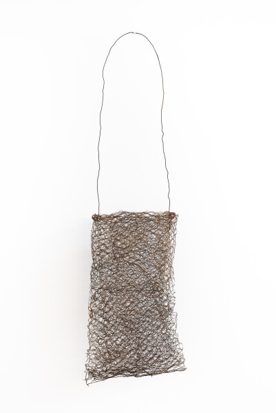 Lorraine Connelly-Northey Narrbong, 2019; CONNL - 0011; rusted rabbit-proof fencing wire; 186 x 38 x 30 cm; Enquire