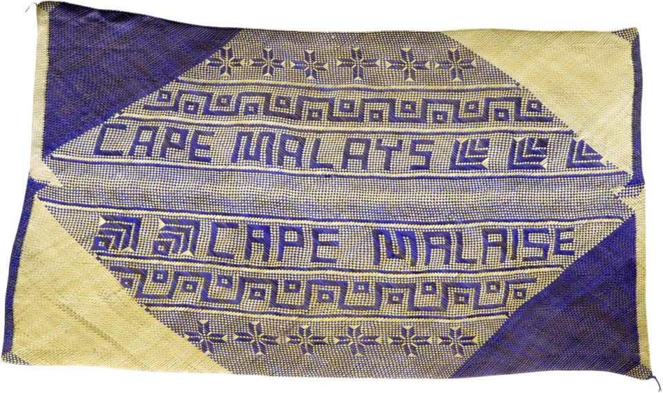 Newell Harry untitled (Cape Malays / Cape Malaise), 2007; from the series gift mat; pandanus and dye; 125 x 214 cm; irregular; enquire