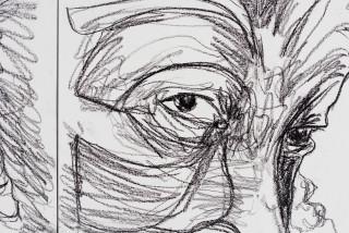 Pierre Mukeba Lust (Sex) (P1) (detail), 2021; charcoal on archival paper; 126 x 296 cm; enquire