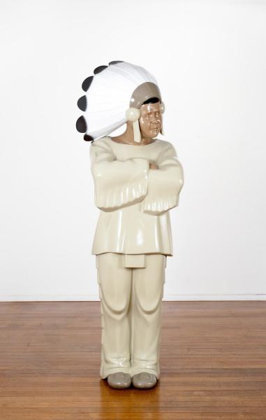Michael Parekowhai The Brothers Grimm 8, 2009; automotive paint on fibreglass; 163 x 52 x 49 cm; enquire