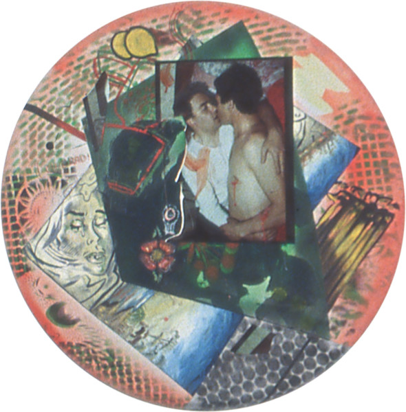 Juan Davila Untitled, 1994; acrylic and collage on canvas; 91 cm diameter; enquire
